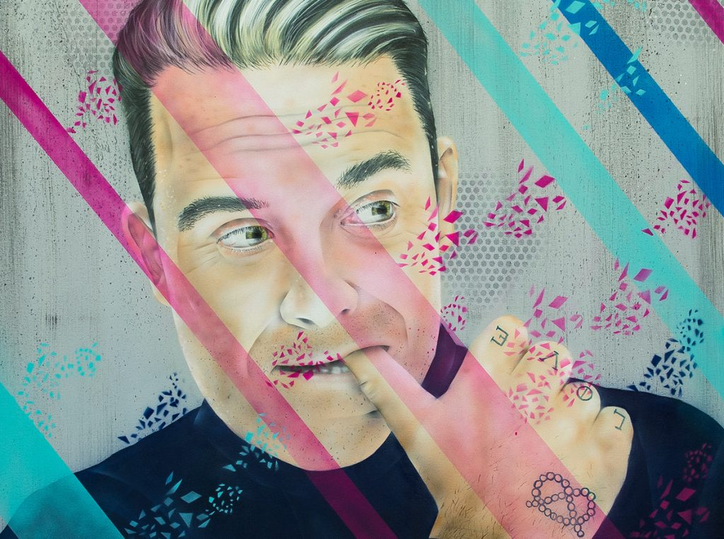 Robbie Williams Leinwand