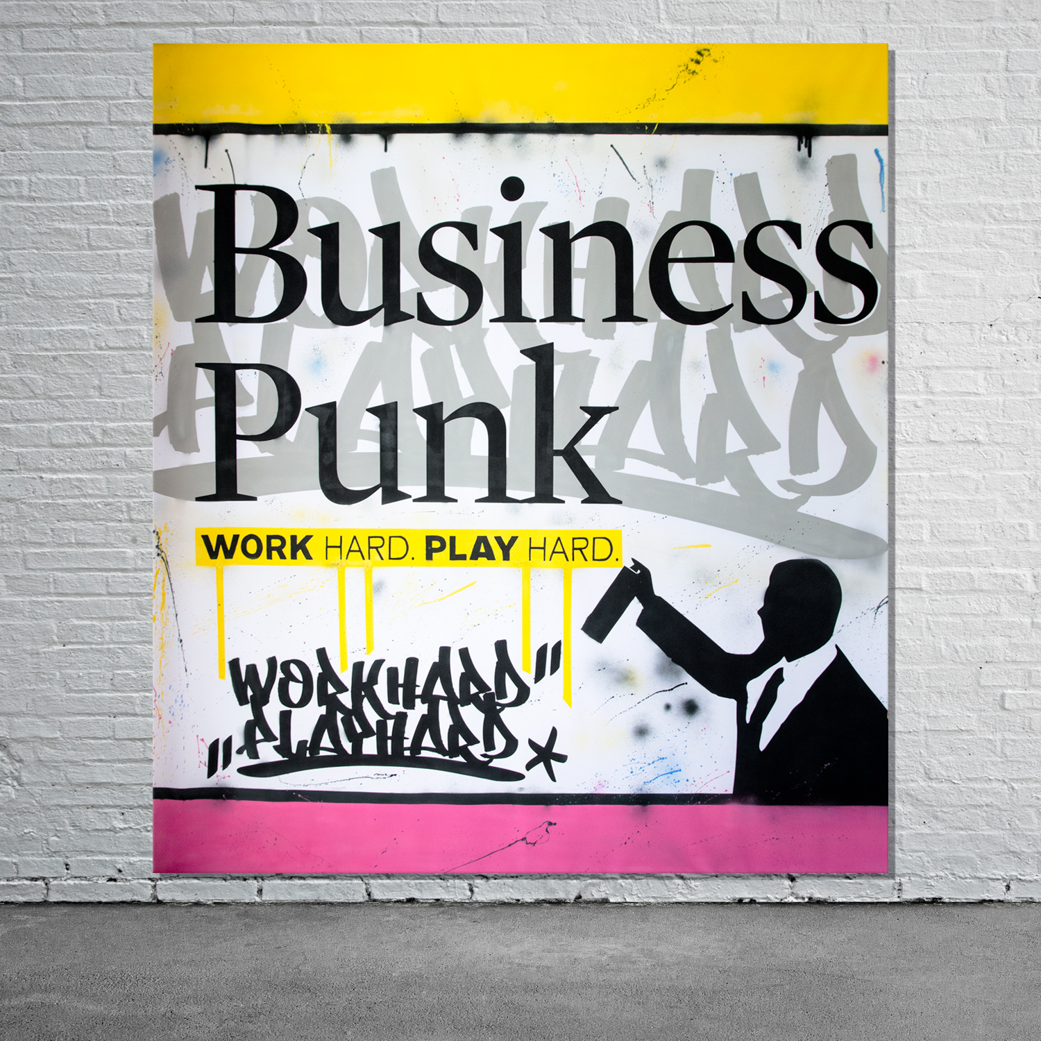 Streetart Leinwand für Business Punk Magazin