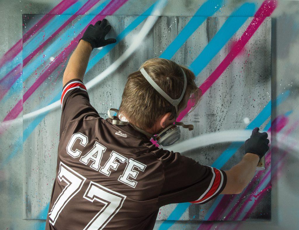 Graffiti Kunst Leinwand - Montana Cans
