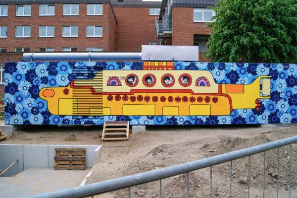Kunst Graffiti auf Container – Für Diako Flensburg