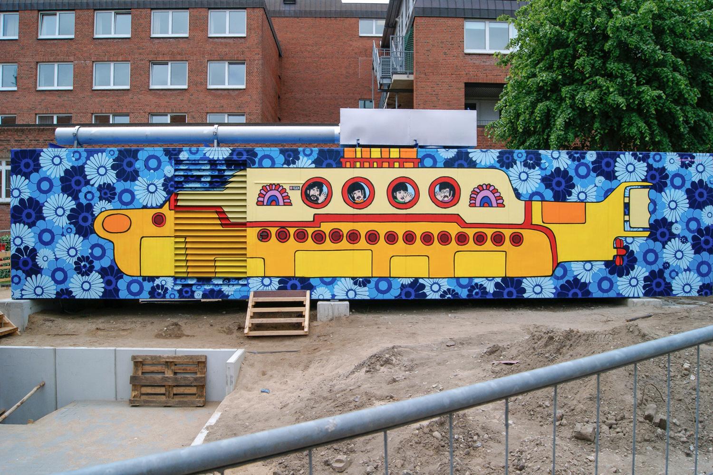 Kunst Graffiti auf Container - Für Diako Flensburg