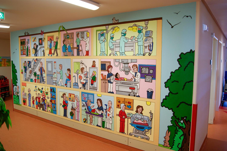 Graffiti für Kinderkrankenhaus Diako Flensburg