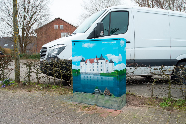 Stromkasten Graffiti - Stromfarben Kunst für Verein Schönes Glücksburg