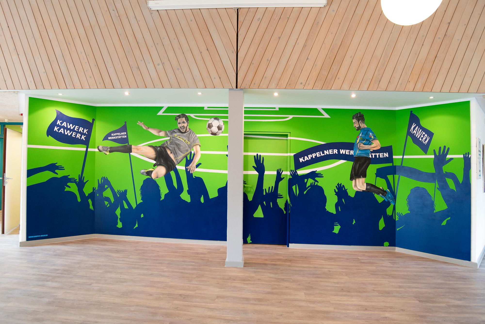 Fussball Wandbild für Firm