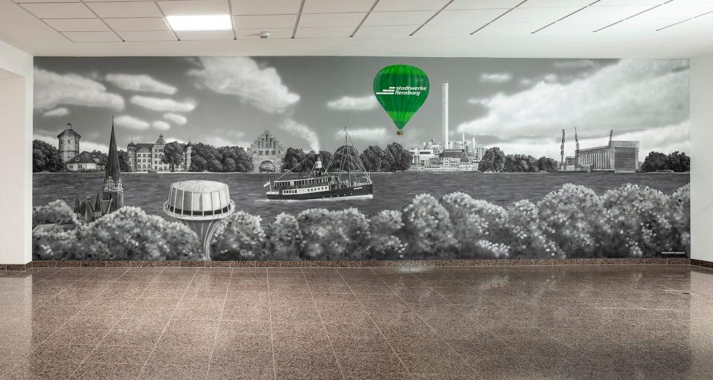 Wandgestaltung Stadtwerke Flensburg