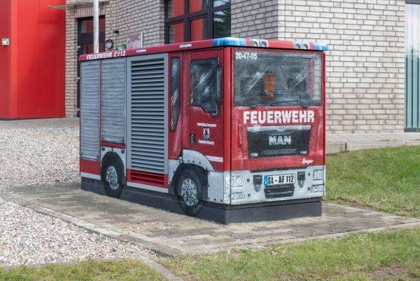 Feuerwehr Graffiti Trafostation