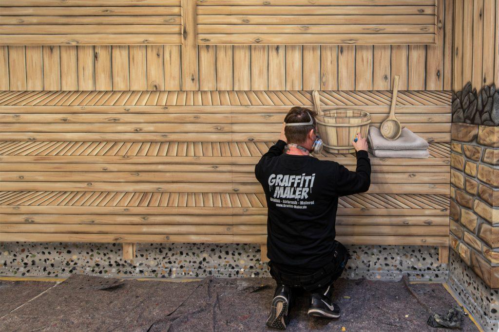Sauna aus der Dose - Kunstmalerei