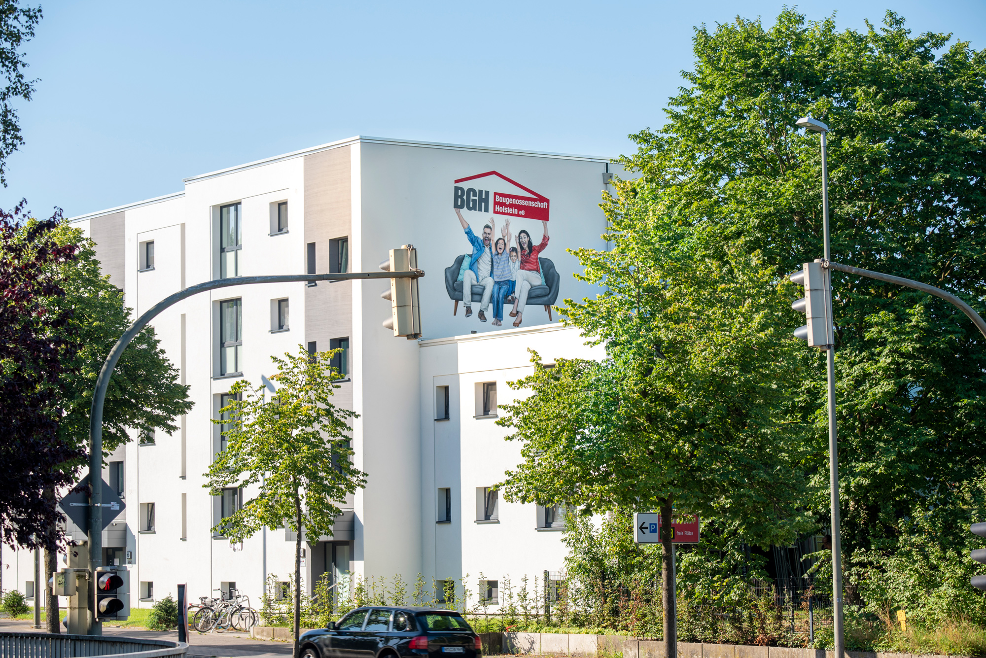 Graffiti Fassadengestaltung BGH Neumünster