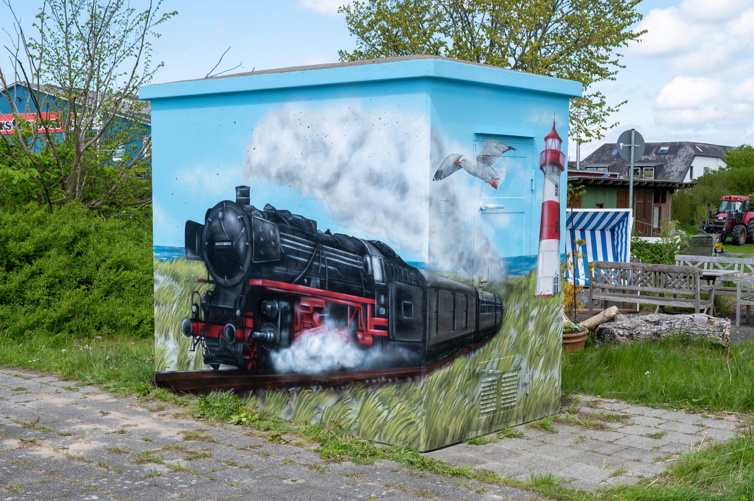 Graffiti Bahnhof Keitum Sylt