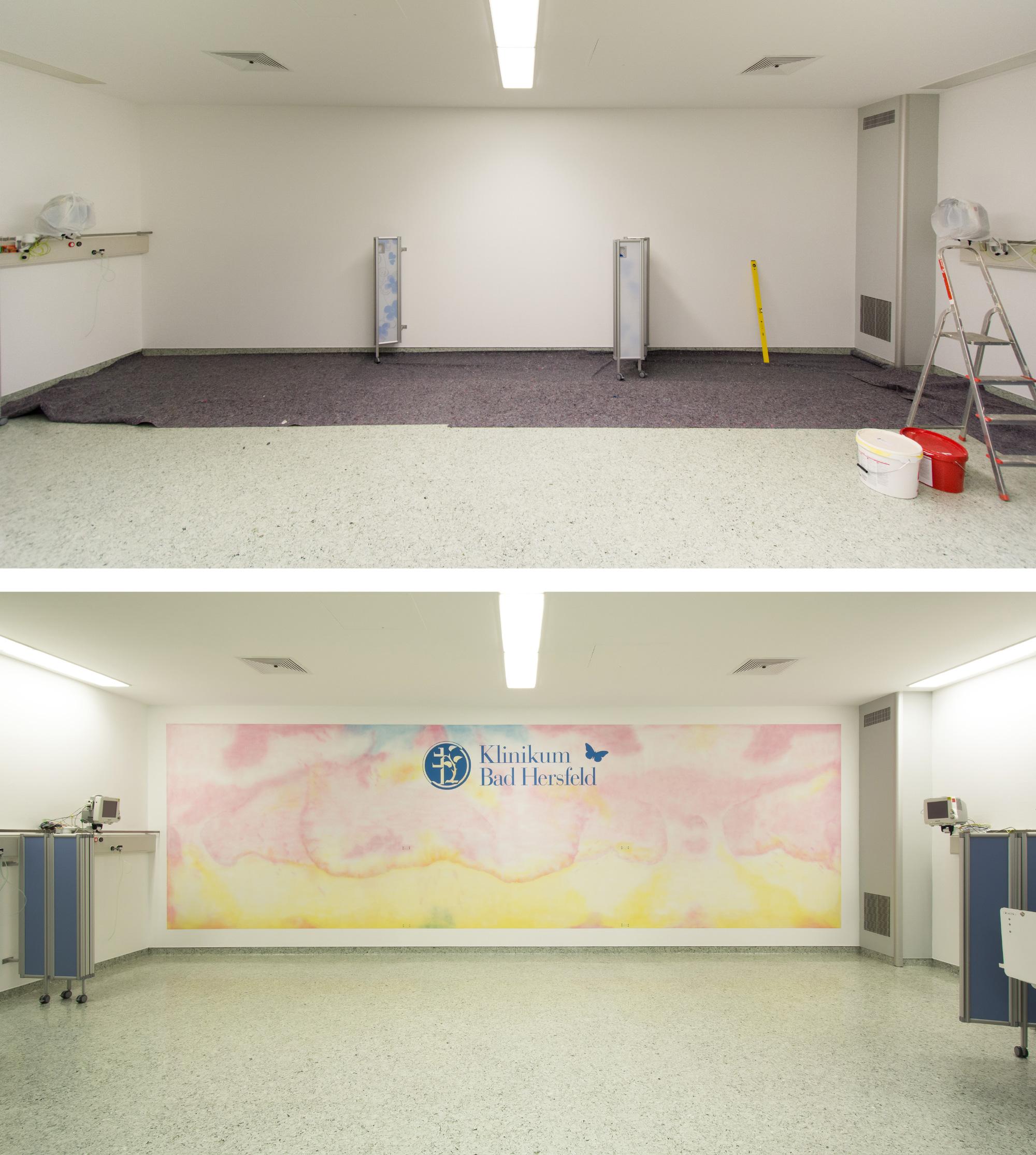 Aufwachraum Klinikum Bad Hersfeld Graffiti-Maler Sven Schmidt