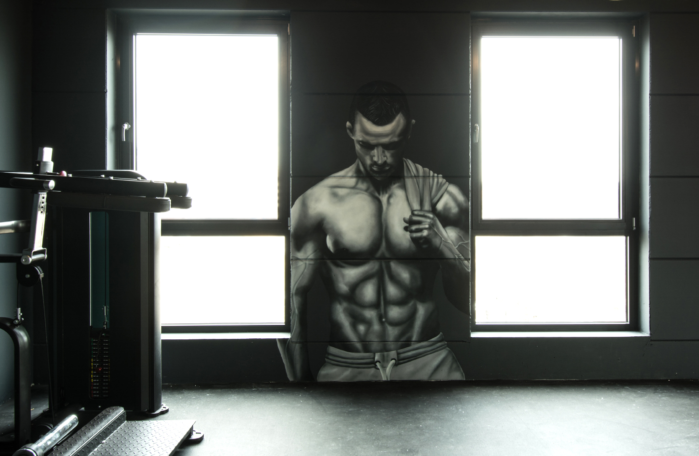 Fitness Studio Graffiti Auftrag Hamburg